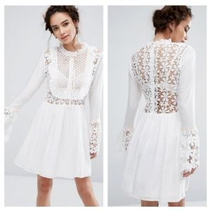 Endless Rose Bell Sleeve Lace Dress with Ribbon